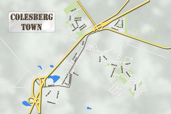 Maps of Colesberg and surrounding area